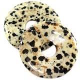 zawieszki okrągłe jaspis dalmatyńczyk 40 mm kamień naturalny