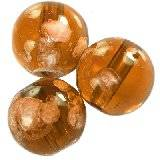 glass beads galactic transparent amber 14 mm