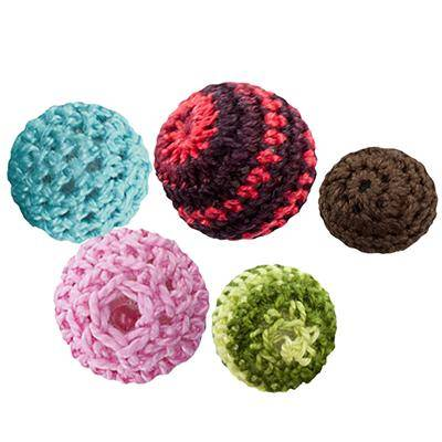 mega pack wool round beads