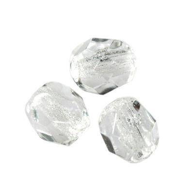 Czech Fire Polished beads 4mm round crystal