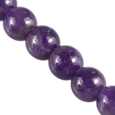 amethyst beads A grade 6 mm / semi-precious stone