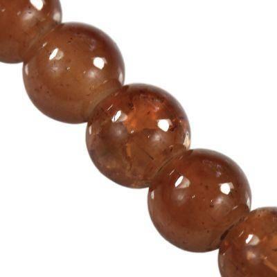 perles de crépitement Jade brun 6 mm