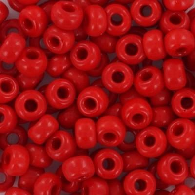 Miyuki round beads opaque red 6/0 #6-408