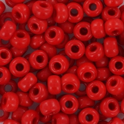 koraliki Miyuki round opaque red 6/0 #6-408