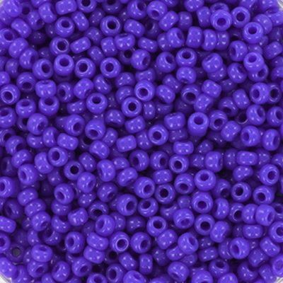 Miyuki round beads opaque blue 11/0 #11-417