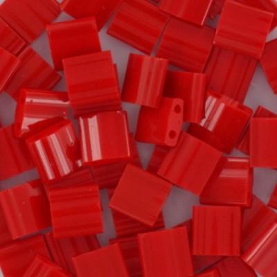 Perline Miyuki tila opaque red 5 mm