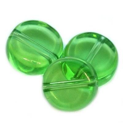 pastylki zielone 10 mm / koraliki szklane