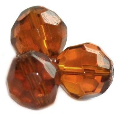 kryształki okrągłe brązowe 8 mm