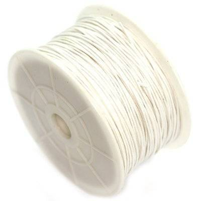 cordone di cotone bianco 0.8 mm