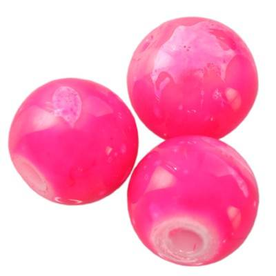 glass beads galactic pink 8 mm