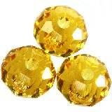 Swarovski briolette beads sunflower 6 mm