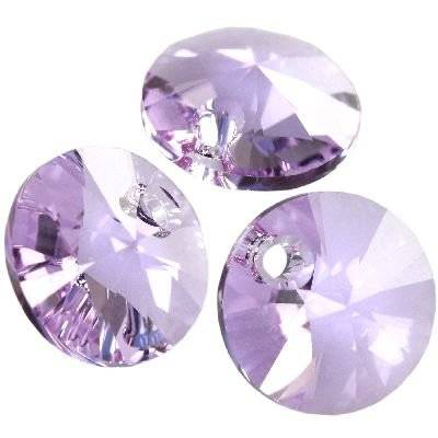Swarovski rivoli pendants violet 8 mm