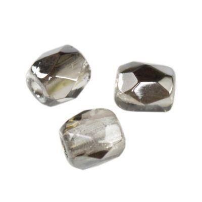 Czech Fire Polished beads 3mm round gray dark silver