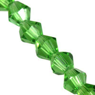 CrystaLine bicones green 4 mm / crystal beads