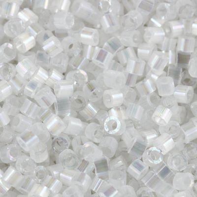 Perles Miyuki Delica crystal silk satin ab 1.6 x 1.3 mm DB-0670