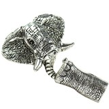 elephant ends set color silver 37 x 45 mm / jewellery toggle clasps / Uroboros