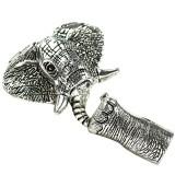 Chiusura Gancio con Terminale elefante termina colore argento 37 x 45 mm / Uroboros / Componenti e Attrezzi
