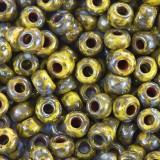 koraliki Miyuki round opaque picasso dark yellow 6/0