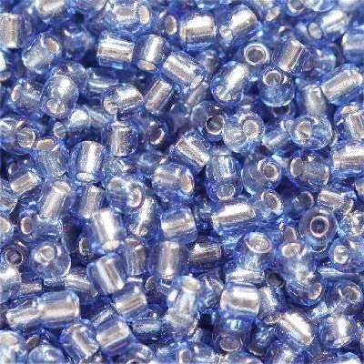 frø glas perler mørkeblå 2 mm