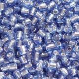 perles de graine de verre bleu foncé 2 mm