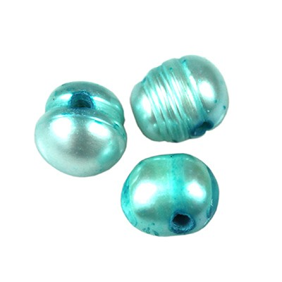 perełki słodkowodne 5-6 mm błękitne