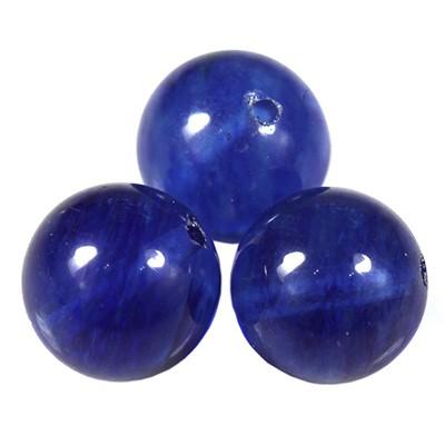 moss quartz blue beads 10 mm / semi-precious stone synthetic