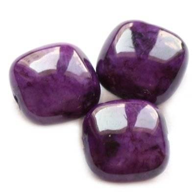 kwadraciki marmur ametystowy 6 x 4 mm kamień naturalny barwiony