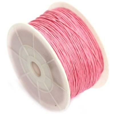 sznurek bawełniany różowy 0.8 mm
