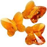 Swarovski butterfly beads tangerine 6 mm
