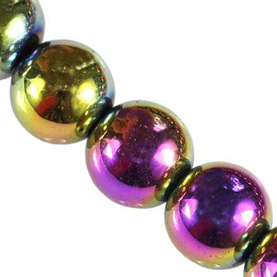 hematite beads rainbow 8 mm / semi-precious stone synthetic