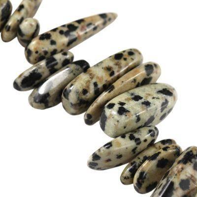zęby jaspis dalmatyńczyk 10-20 mm kamień naturalny barwiony