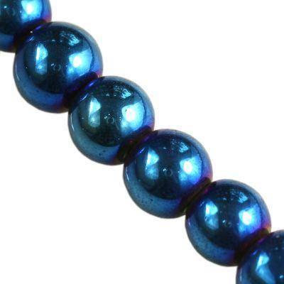 koraliki Bubble AB niebieskie 4 mm