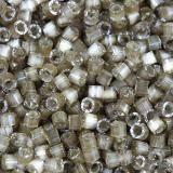 Miyuki Delica silver lined variegated taupe silk satin 1.6 x 1.3 mm DB-0671