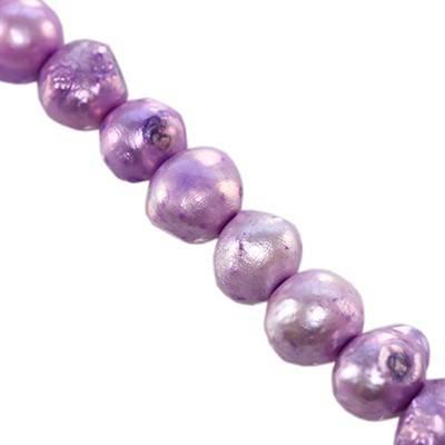 perełki słodkowodne 5-6 mm liliowe