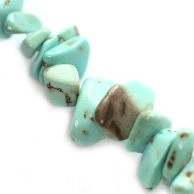 turquoise chips synthetic smooth / semi-precious stone synthetic