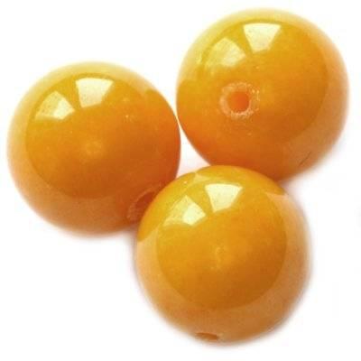 boules jadéit de roche ambre 16 mm