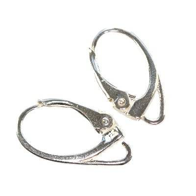 sterling silver 925 ear wire closable oval