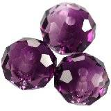 Swarovski briolette beads amethyst blend 8 mm