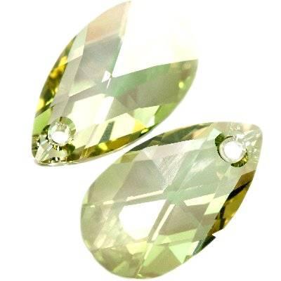 Swarovski pear-shaped pendants crystal luminous green 16 mm