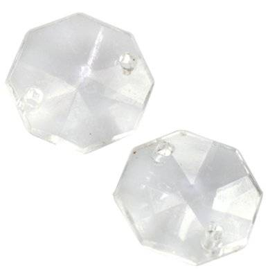 faceted transparent rivoli beads 15 x 15 mm