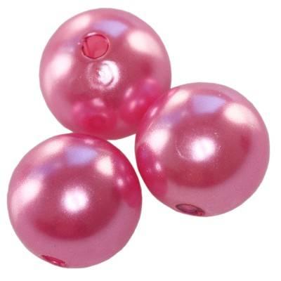 plastikowe perełki różowe 8 mm