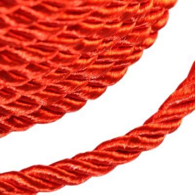 sznurek skręcany czerwony 4 mm