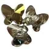 Swarovski butterfly beads crystal iridescent green 8 mm