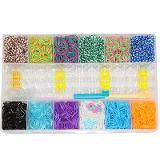 loom bands kit di elastici e accessori 2400 pezzi