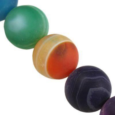 agat matowy miks 12 mm kamień półszlachetny naturalny barwiony