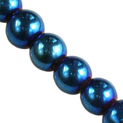 koraliki Bubble AB niebieskie 6 mm