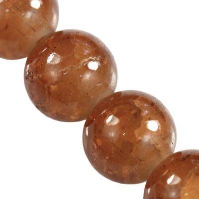perles de crépitement Jade brun 12 mm