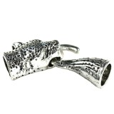 panthera ends set color silver 14 x 42 mm / jewellery toggle clasps / Uroboros