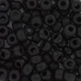 Miyuki round beads matte black 6/0 #6-401F