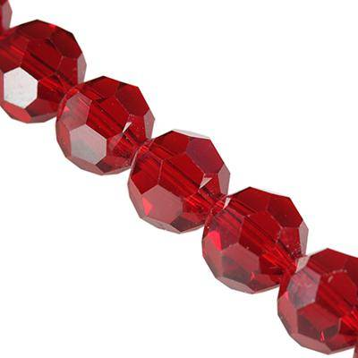 faceted hand cut red 10 mm